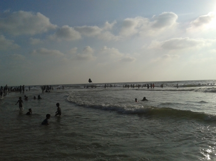 Gaza sea, the only place for Gaza's kids in the summer to enjoy in.