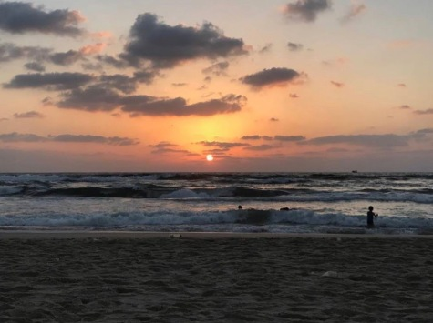Sunset from Gaza Beach.