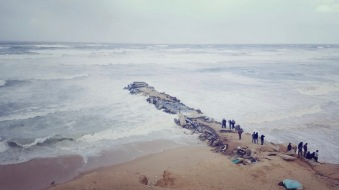 Gaza beach at a stormy day.