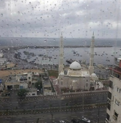Al-Hasayna Mosque at Gaza Sea Port.